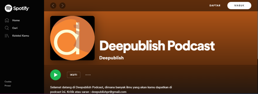 spotify deepublish